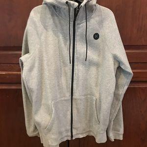 Men's zip up gray Hurley hoodie size small